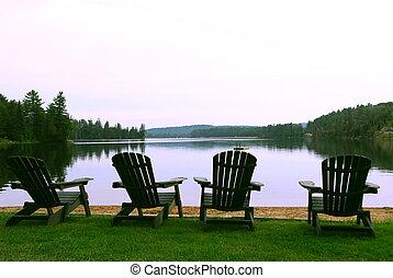 sillas, lago