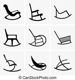 sillas, mecedor