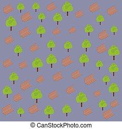 Sillas y árboles de fondo