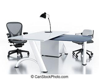 sillones, habitación vacía, oficina, tabla