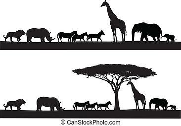 Silueta animal safari