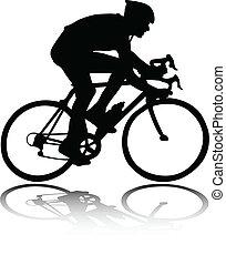 silueta, ciclista