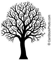Silueta de árbol sin hoja 2