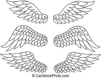 Silueta de alas