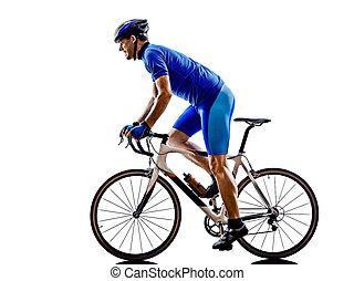 Silueta de bicicleta ciclista