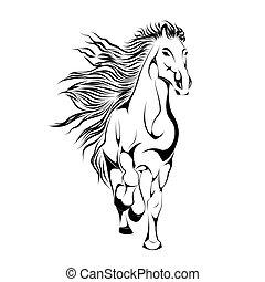 Silueta de caballo en vector