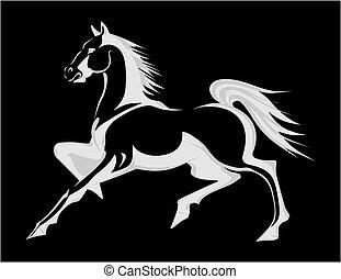 Silueta de caballo. Una ilustración del vector