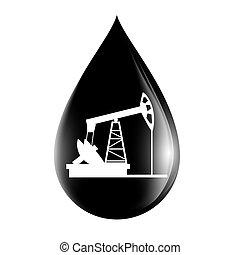 Silueta de calabaza en una gota de aceite