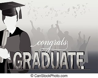Silueta de celebración de graduación