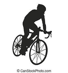 Silueta de ciclista