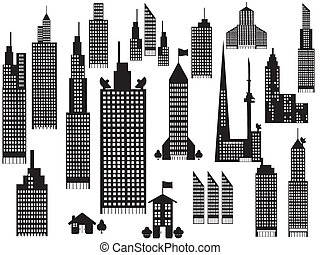Silueta de edificios de la ciudad