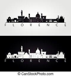 Silueta de Florencia y monumentos