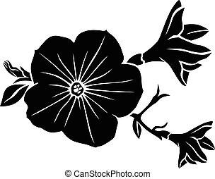 Silueta de flores de Petunia