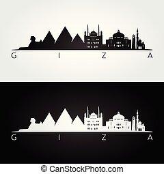 Silueta de Giza y puntos de referencia
