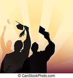 Silueta de graduación