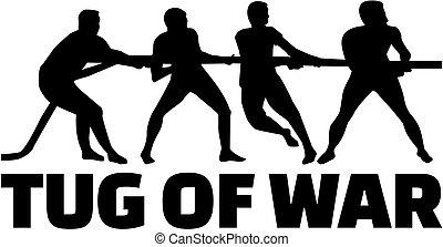 Silueta de guerra con palabra