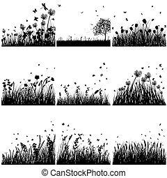 Silueta de hierba preparada