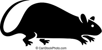 Silueta de ilustración de vectores de ratas