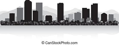 Silueta de la ciudad de Denver