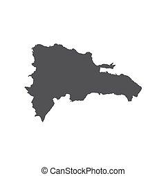 Silueta de mapa de la República Dominicana