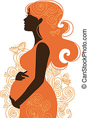Silueta de mujer embarazada