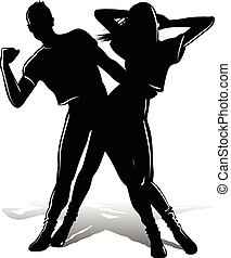 Silueta de pareja de baile