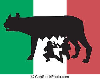 Silueta de símbolo de Roma