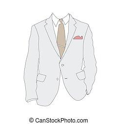 Silueta de traje de negocios