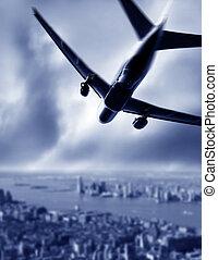 Silueta de un avión