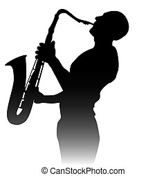 Silueta de un saxofonista