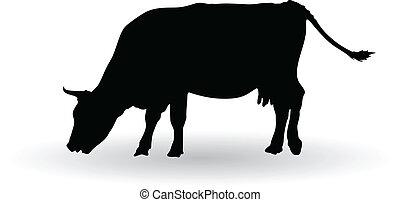 Silueta de vacas