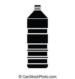 Silueta de vector de botella