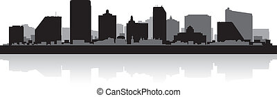 Silueta del horizonte de Atlantic City