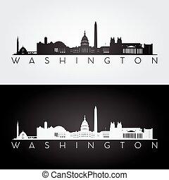 Silueta del horizonte de Washington