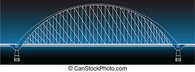 Silueta del puente dorado