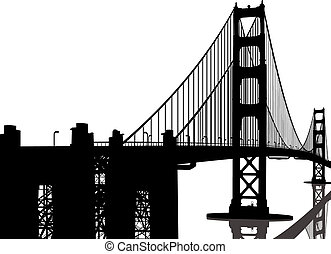 Silueta del puente Golden Gate