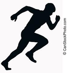 Silueta deportiva, atleta masculino