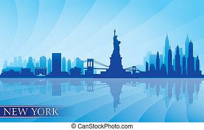Silueta detallada de Nueva York