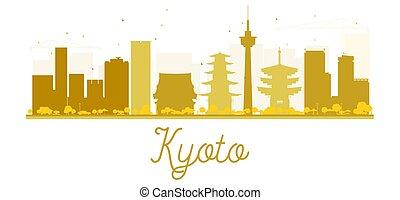 Silueta dorada de la ciudad de Kyoto.