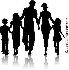 silueta, familia