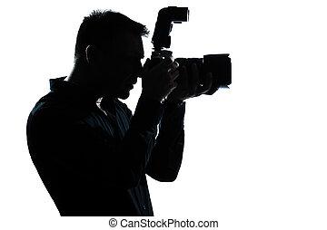 Silueta, fotógrafo de retratos