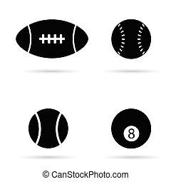 Silueta negra vector Ball