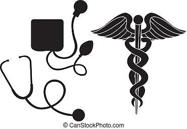 Silueta señal médica