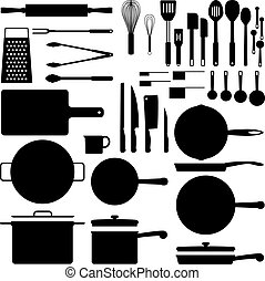 Silueta utensilio de cocina