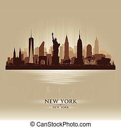 Silueta vectorial de la ciudad de Nueva York