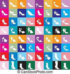 siluetas, 2, zapato