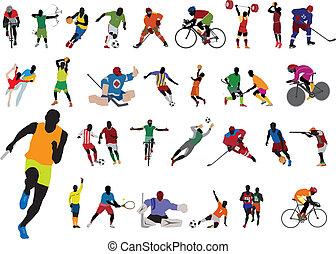 siluetas, atleta