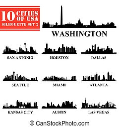 Siluetas ciudades de EE.UU. marcan 2