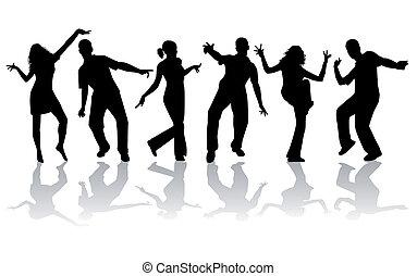 Siluetas danzantes, gran colección