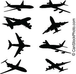 Siluetas de avión